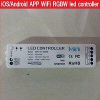 Novo 2016 iOS/Android APP WiFi RGBW led controlador Sem Fio 2.4G Para rgbw luzes led strip DC12-24V Frete grátis