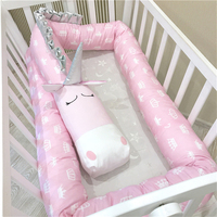 2M/3M Baby Bed Bumper Unicorn Dalmatians Zebra Infant Pillow Cushion Newborn Crib Protector,Nursery Bedding,Cot Room Decor