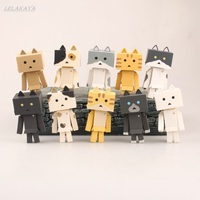 danbo 10 pcs/set Danbo Mini Danbor High Quality children Gift Toy Cat backyard Anime In Danbo Nyan Board Doll