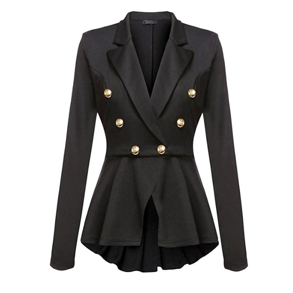 Gothic Casual Office Lady White Women Overcoats Blazer Autumn Slim Black Formal Girls Yellow Popular Female Coats Purple Blazers