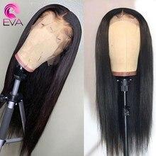 Эва волос 360 кружевных фронтальных париков предварительно сорвал с Детские волосы отбеленные узлы прямые бразильские Remy человеческие волосы парики для черных женщин