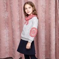 Для девочек защитная одежда Модный комплект 2018 осенняя одежда новая детская cuhk юбка Штаны комплект из двух предметов