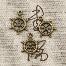 12pcs Charms ships wheel helm rudder 20x15mm Antique Making pendant fit,Vintage Tibetan Bronze Silver,DIY bracelet necklace(China)