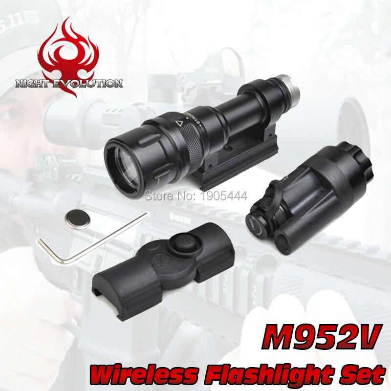 NE 04077 Night Evolution Tactical light M952V Wireless Flashlight Set Quick Release Tactical Flashlight Airsoft Torch ne 04038 night evolution wmlx2 multifunction weapon mounted flashlight white