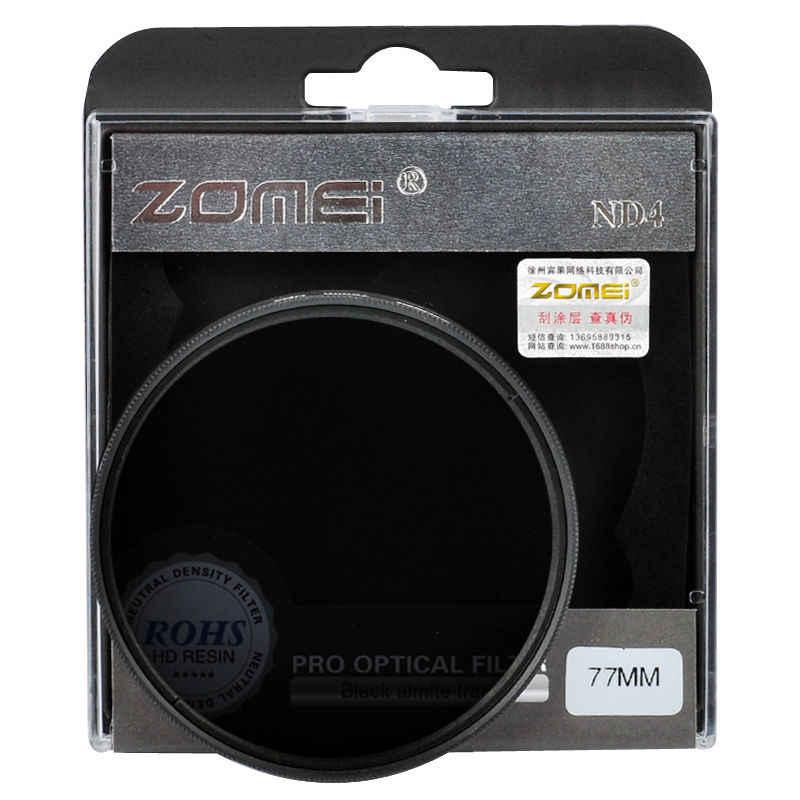 Zomei Nötr Yoğunluk kamera ND filtre seti kiti 52mm 58mm 62mm 67mm 77mm 82mm ND2 ND4 ND8 SLR DSLR kamera için lens
