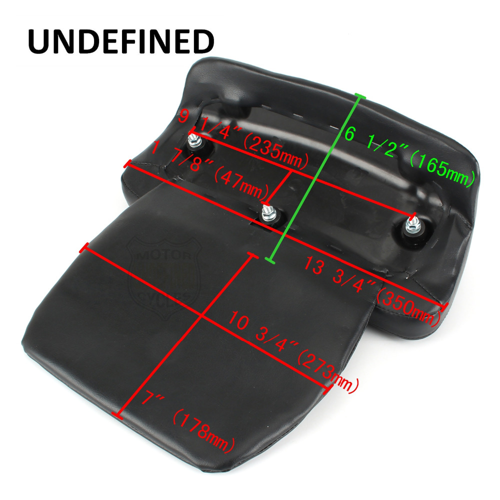 Black Motorcycle Seat Backrest Trunk Razor Chopped Tour-pak Backrest Pad For Harley Touring And Tri Glide Models 1997-2013 Frames & Fittings