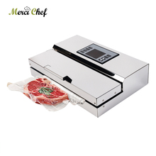 Food Vacuum Sealer Packaging Machine Semi-commercial Vacuum Sealer Stainless Steel Body недорого