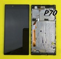 For Lenovo P70 P70-T P70T P70-a P 70 Black Lcd display Screen Monitor Module + Touch screen Digitizer Sensor Assembly + Frame