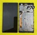 Para lenovo p70 p70-t p70t p70-a p 70 display lcd preto Módulo Monitor de tela + Touch screen Digitador Assembléia Sensor + Quadro