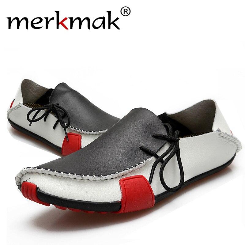 Venta Caliente de alta Calidad de Cuero Genuino Zapatos de Los Hombres Mens Ocas