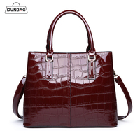 Luxury Bright Patent Leather Handbags Women Bags Designer Large Shopper Tote Bag Crocodile Women's Handbag Female Shoulder Bolsa