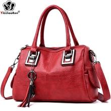 Fashion Ladies Hand Bags High Quality Leather Shoulder Bag Tassel Handbag Women Luxury Handbags Women Bags Designer Sac A Main цена 2017
