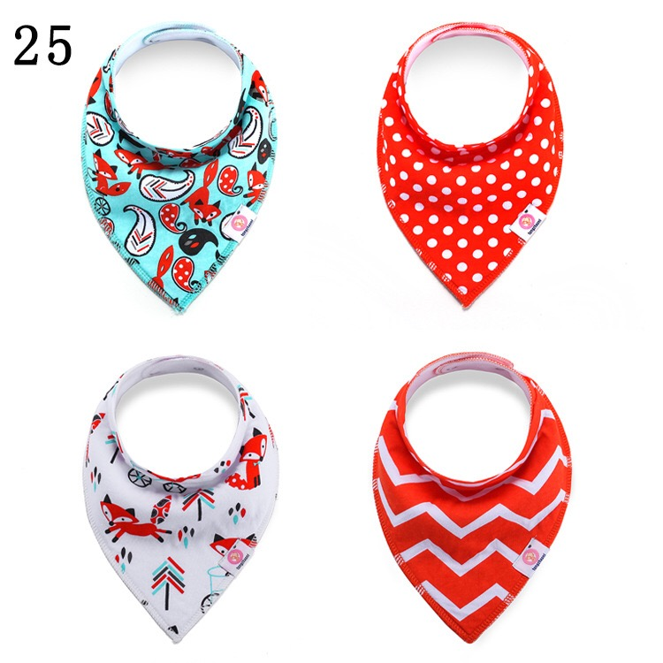 Newborn Baby Cotton Bibs Kids Soft Bandana burp cloths Scarf Infant Saliva Towel