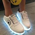7 cores LEVOU sapatos amantes luminosos moda Feminina Carga USB iluminar sapatos para adultos brilhantes apartamentos tamanho Das sapatas Das Mulheres 35-44