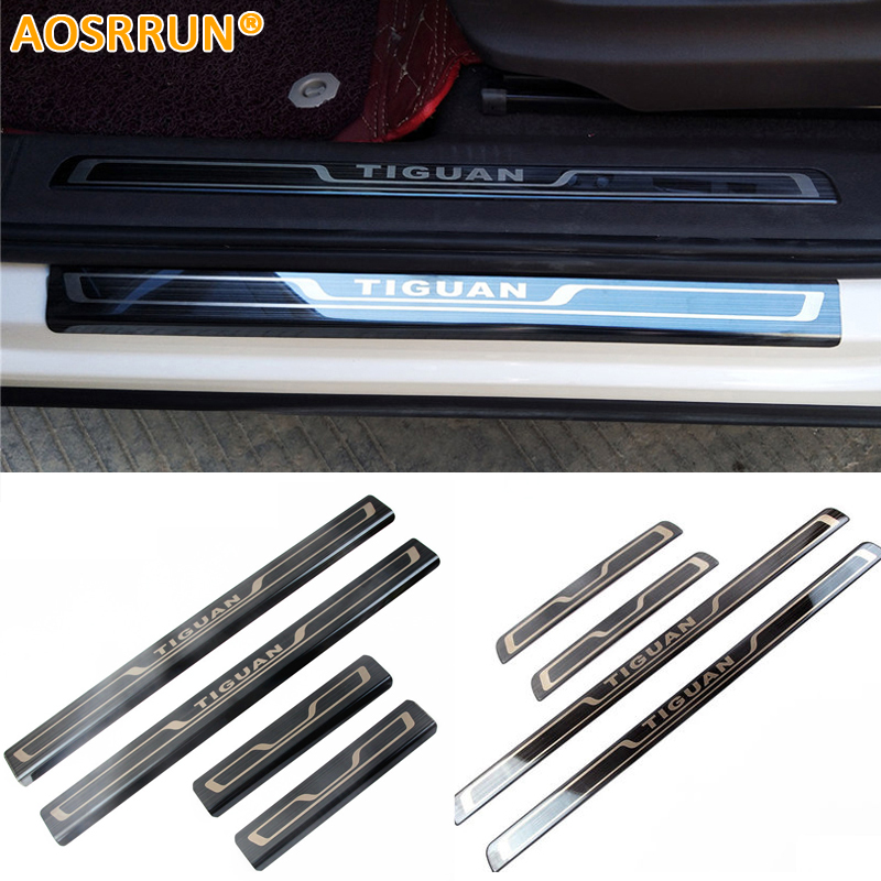 AOSRRUN Stainless steel scuff plate door sill Trim Car Accessories car styling For Volkswagen VW Tiguan MK2 2017 2018 2016 александр звягинцев прокурор идет ва банк page 5 page 5 page 1 page 2 page 3