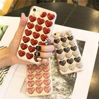 100 шт для iPhone 8 7 6s 6 Чехол для телефона Мода; Симпатичные тапочки с узором в виде платье с пайетками и вырезом сердечком на спинке прозрачный Т
