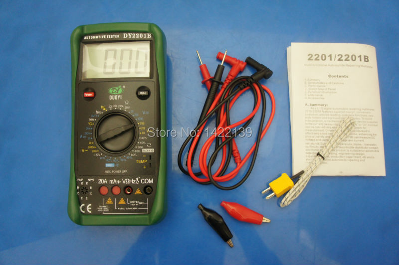 DUOYI DY2201B Automotive Meter and Battery Tester Electrical Instrument Multimeter