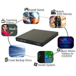 Image 3 - Bluray Player External USB 2.0 DVD Drive Blu ray 3D 25G 50G BD R BD ROM CD/DVD RW Burner Writer Recorder For Laptop Computer PC
