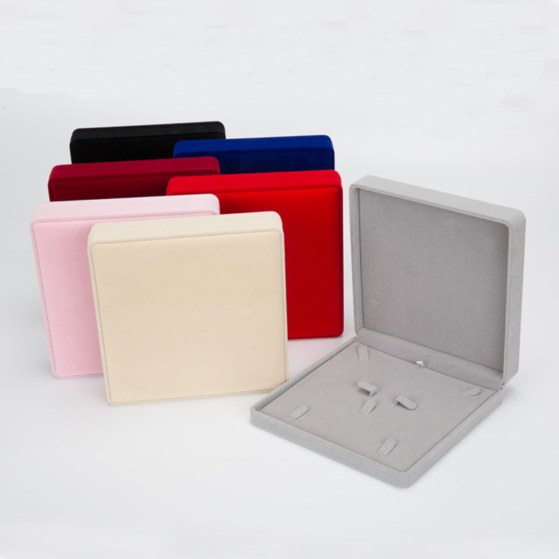 19x19x4cm Multi-color Velvet Jewelry Box Earrings Ring Jewelry Organizer Case For Jewelry Necklace Gift Packaging Box