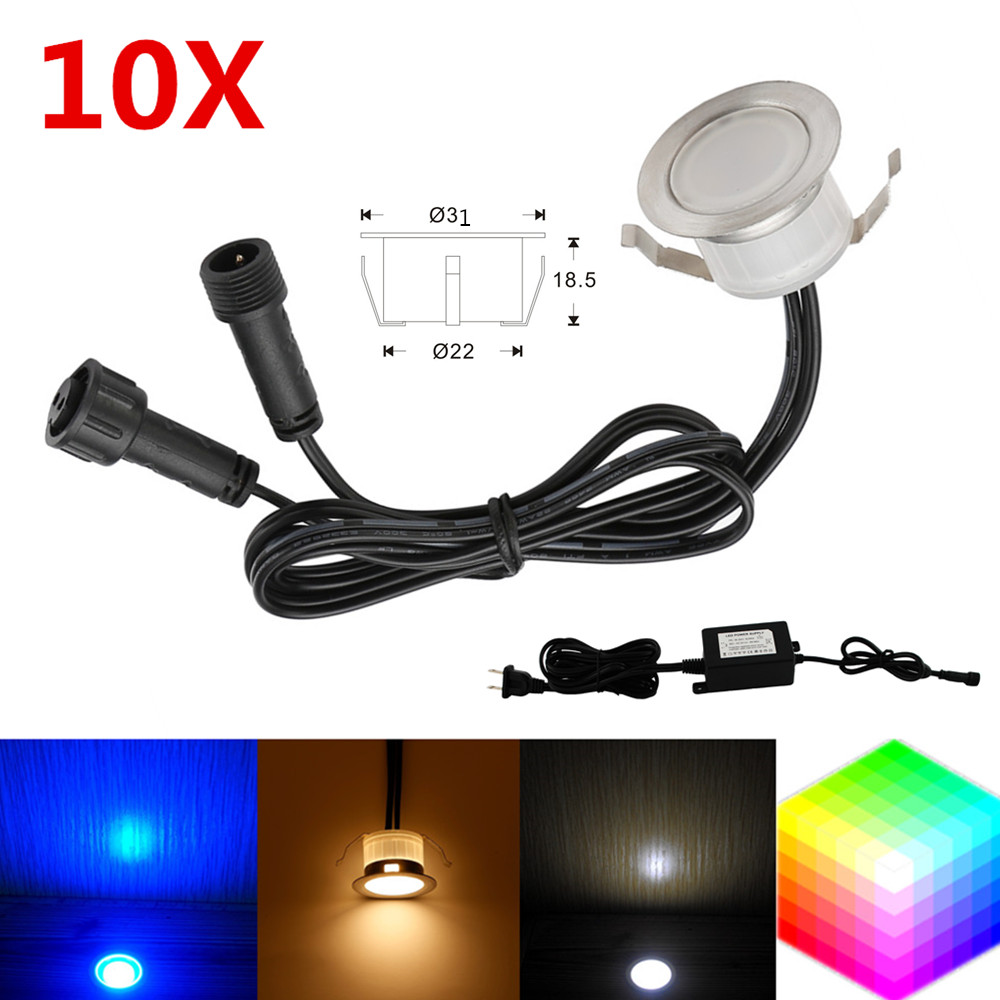 12v Ip67 10pcs Set Rgbw Rgb Warm White 31mm 12v Ip67 Kitchen Pathway Terrace Patio Stair Step Led Deck Rail Lights Low Voltage In Led Underground Lamps From
