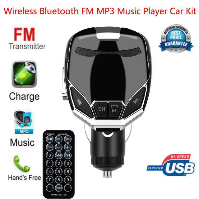 Fm Transmitter Bluetooth Car Kit Mp3 Player Voltage Led Display Dual Usb Charger Sd Tf