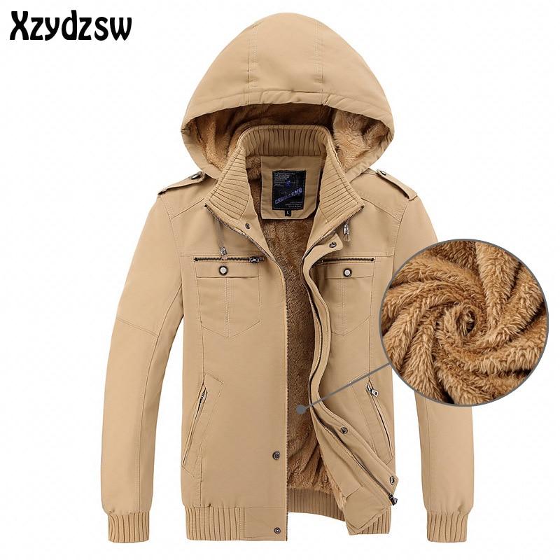 New Winter Jacket Men Casual Thicken Warm Cotton-Padded Jackets Mens Hooded Windbreaker Outwear Parkas Plus size 3XL Down Coats