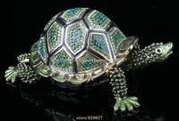 Big Turtles Trinket Box Fengshui Crystal Tortoise Figurine Collect Vintage Animal Turtle Trinket Box Souvenir Gift Sculpture