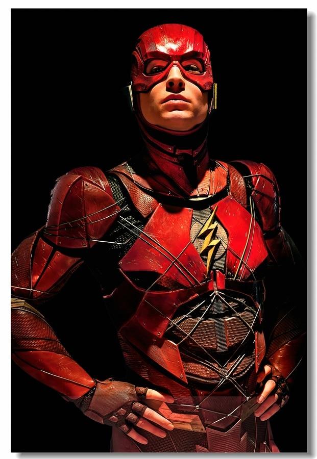 Ongekend Custom Canvas Wall Decor Superhero DC The Flash Poster Ezra Miller IK-51