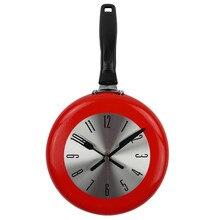 ABKM Hot Wall Clock Metal Frying Pan Design 8 Inch Clocks Kitchen Decoration Novelty Art Watch