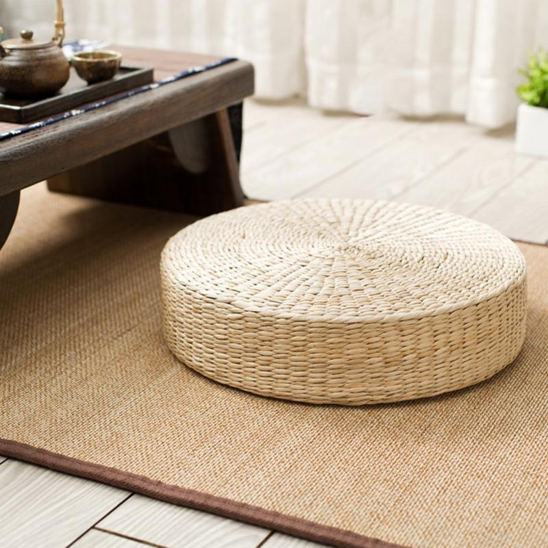 Round Garden Dining Room Pillow Floor Mat Beige Home Decor Outdoor