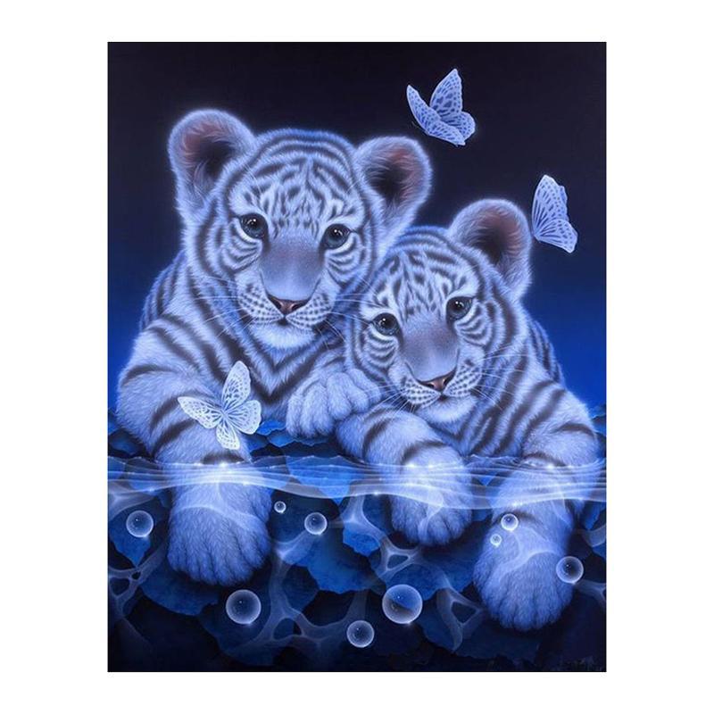 Full Square Diamond 5D DIY Diamond Painting Tiger Fall Embroidery Cross Stitch Rhinestone Mosaic Painting