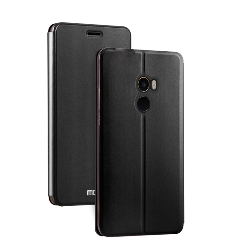super popular a76aa eaacc US $9.99 |xiaomi mi mix2 case cover xiaomi mi mix 2 flip cover leather  silicone back hard protect MOFi case for xiaomi mix2 cases-in Fitted Cases  from ...