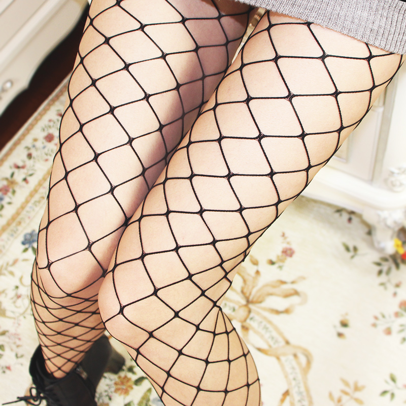 2018 Hot Sexy Fishnet Stockings Women Mesh Stocking Sexy Pantyhose Nylon Tights Ladies Black Long Stockings Over the Knee Socks