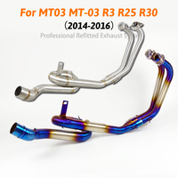 R3 R25 MT03 Motorcycle Exhaust Slip On Header Link Contact Pipe Without Muffler For YAMAHA MT 03 R3 R25 2014 2016