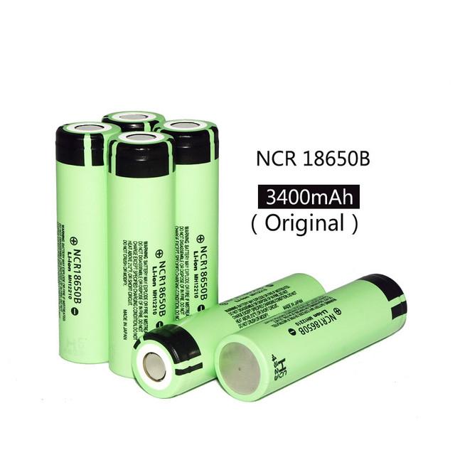 6 pcs. 100% new original for panasonic 18650 3.7 V 3400 mAh rechargeable NCR18650B LIthium battery