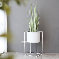 TOY88 0715 Creative Nordic Hmoe Floor Flower Stand Balcony Living Room Garden Decoration Indoor Planter Pot Rack Flower Stand