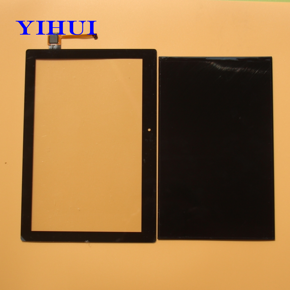 YIHUI For Lenovo TAB2 A10-70F A10-70 Tablet PC LCD Display with Touch Screen Digitizer Glass Parts Black/White hsd103ipw1 a10 hsd103ipw1 lcd displays screen
