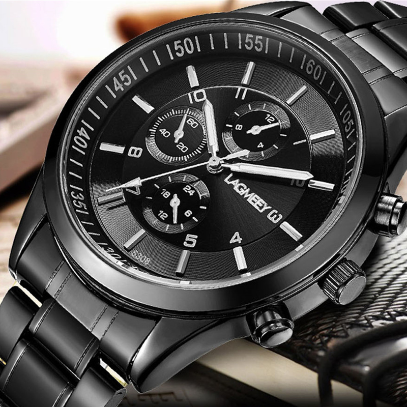 Top Brand Luxury Sport Watches Men Black Full Steel Watch Men Wrist Watch Men's Watch Clock relojes para hombre kol saati saat v6 watch men wrist watch top brand military sport watches men s watch relogio masculino erkek kol saati relojes para hombre