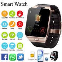Reloj inteligente con Bluetooth 2019 para hombre, reloj inteligente, deportivo Digital, inteligente, DZ09, podómetro para teléfono inteligente Android