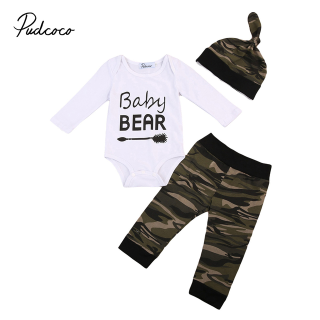 9d825e9ae Army Green Baby clothes set 2017 Newborn Kid Baby Boy Warm Clothes ...