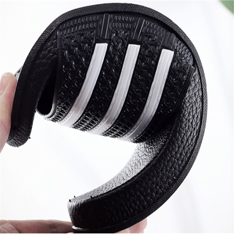 Teen Boys Girls Sandals Shoes Teenage Kids Summer Slippers Man Woman Beach Bath Shoes Home Slippers Casual Stripped PVC Shoes 5
