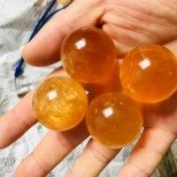 30mm naturalny cytryn, kalcyt, kwarcowy kryształowe kulki piłka uzdrowienie kamień 1pc