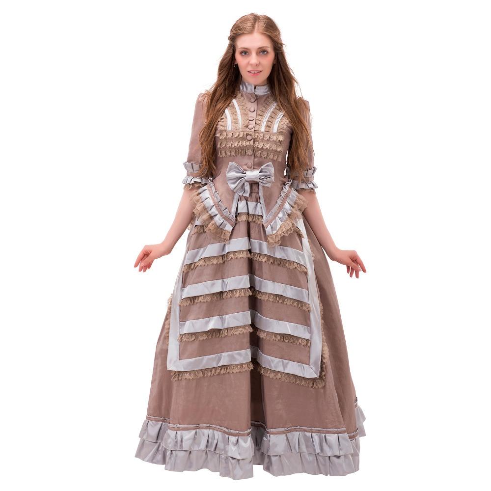 Antique Civil War Victorian Era Dress 1860s Victorian Medieval Renaissance Rococo Marie Antoinette Dress Gown Halloween Costume