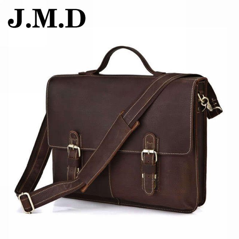 Hot Sale 2018 Fashion men Bag leather handbag Brand 100% Genuine Leather Bag Messenger bag Satchels bolsas free shipping JD014 11cls bolsas fashion 100