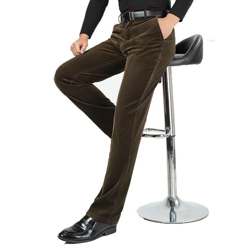 Новинка 2017 года мужской Бизнес длинные Брюки для девочек сезон: весна–лето классические повседневные штаны Homme Винтаж прямой мужской Брюки для девочек большой размер 30–40 xnn57