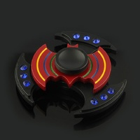 Batman Double Layer Round Wheel Autism And ADHD Kids Adult Hand Spinner High Speed Rotation Long
