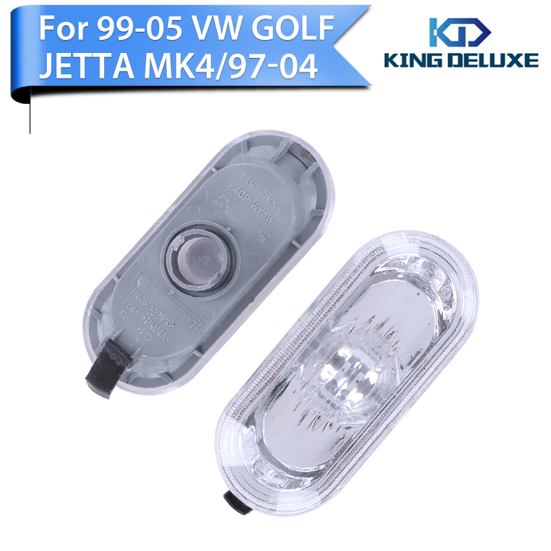For VW Golf Jetta MK4 Passat B5 B5.5 1997-2004 Beetle Side Marker Light Housing Turn Signal Lamp Smoked Lens #P79 beler car grey interior dome reading light lamp itd 947 105 fit for vw golf jetta mk4 bora 1999 2004 passat b5 1998 2005