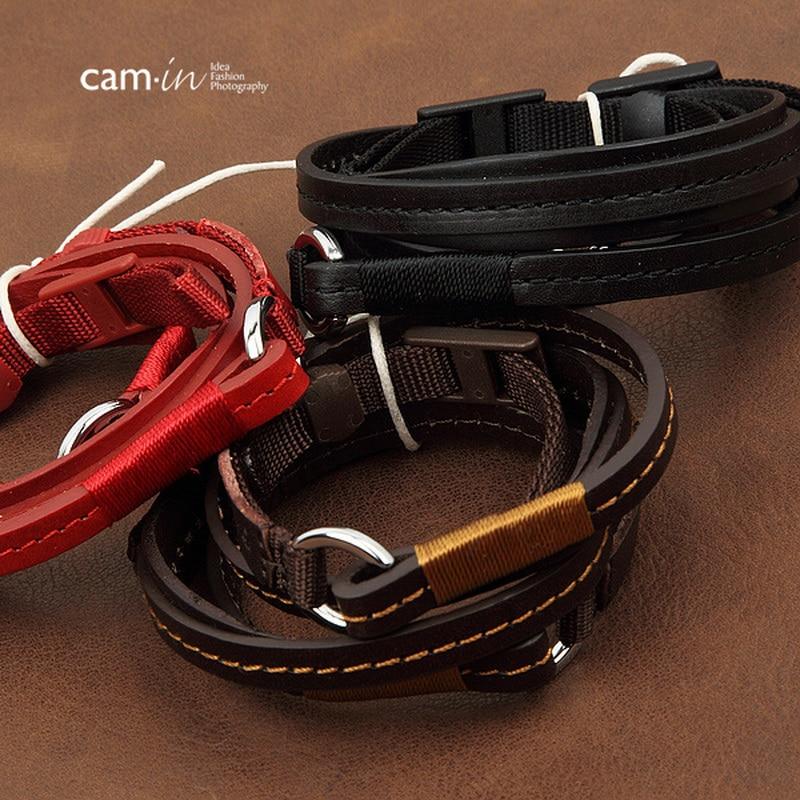 cam-in CS188 Adjustable Universal Leather Camera Shoulder Neck Strap for SLR DSLR Cameras