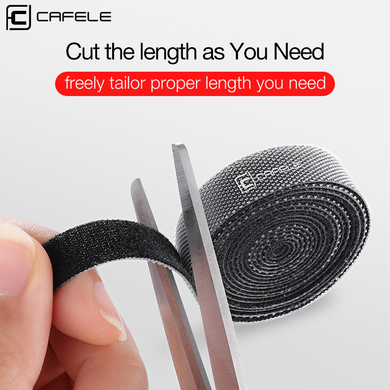 CAFELE Cable Organizer Wire Winder Clip Earphone Holder Management For IPhone Samsung USB Cable Mouse Cord Protector Cable Clip