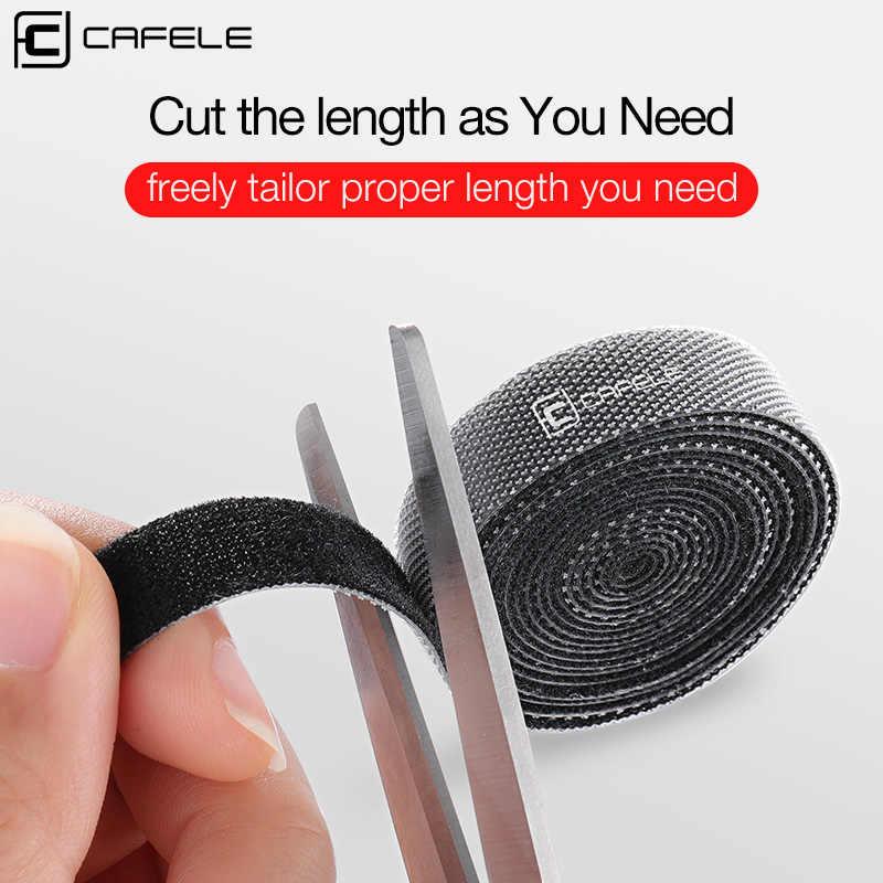 CAFELE, organizador de cables, Clip de bobinadora de cables, gestión de soporte de auriculares para iPhone Samsung, Cable USB, Mouse, Clip de Cable Protector